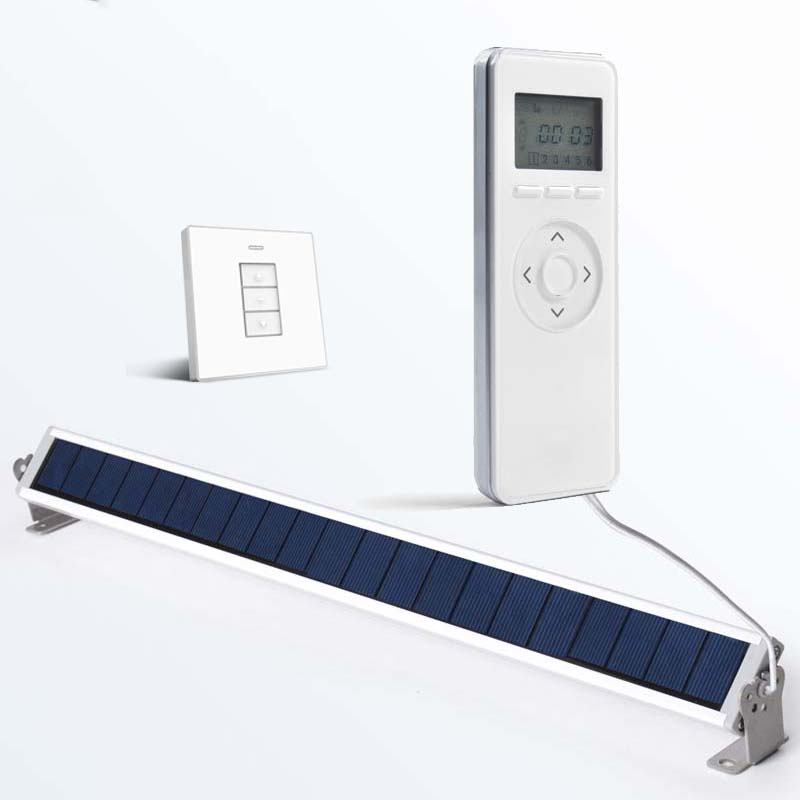 Timed Remote Controller Wireless Wall Switch Solar Panel Electrical Roller Blinds Accessories