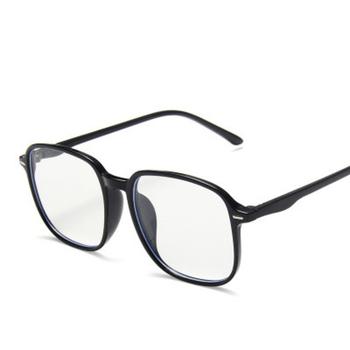 Modne modne okulary do niebieskiego światła kobiety luksusowej marki duże ramki okulary damskie klasyczne kwadratowe zwykłe lustro mężczyzn tanie i dobre opinie nauq Poliwęglan Unisex NA211 55mm 53mm Octan