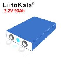 LiitoKala, batería de 3,2 V, 90Ah, LiFePO4, fosha de litio y hierro de gran capacidad, batería de 90000mAh para motor de coche o motocicleta eléctrica