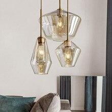 Nordic Luxury Golden Loft Retro Pendant Lights Glass Kitchen Hanging Lamp Bedroom Indoor Lighting Staircase Corridor  Luminaire