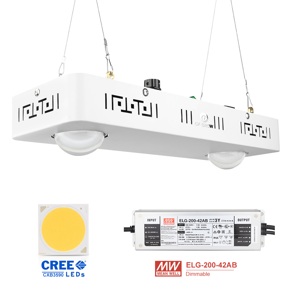 Dimmable COB LED Grow Light Full Spectrum CREE CXB3590 100W 200W 400W 600W Growing Lamp For Indoor Plant Growth Panel Lighting