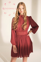EASYSMALL Zimmer Frauen kleid Mode Sommer Sexy Chiffon retro hohe-ende cosplay party abend Hohe Taille Vestidos Pleate Kleider