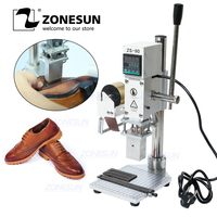 ZONESUN Hot Foil Stamping Machine Embossing Logo Trademark Manual Bronzing Machine For Finshed Leather Shoes Heat Cold Pressing