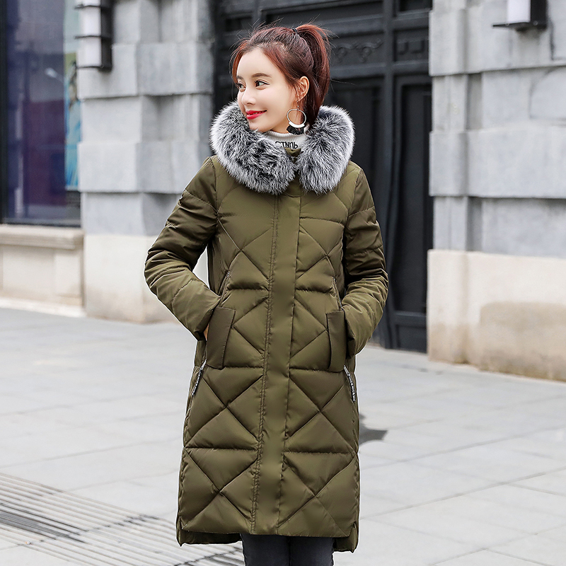 Winter Female Down Jacket Women Real Fox Fur Hooded Clothes 2019 Korean Warm Duck Down Coat Long Thick Coats Hiver 2029-2