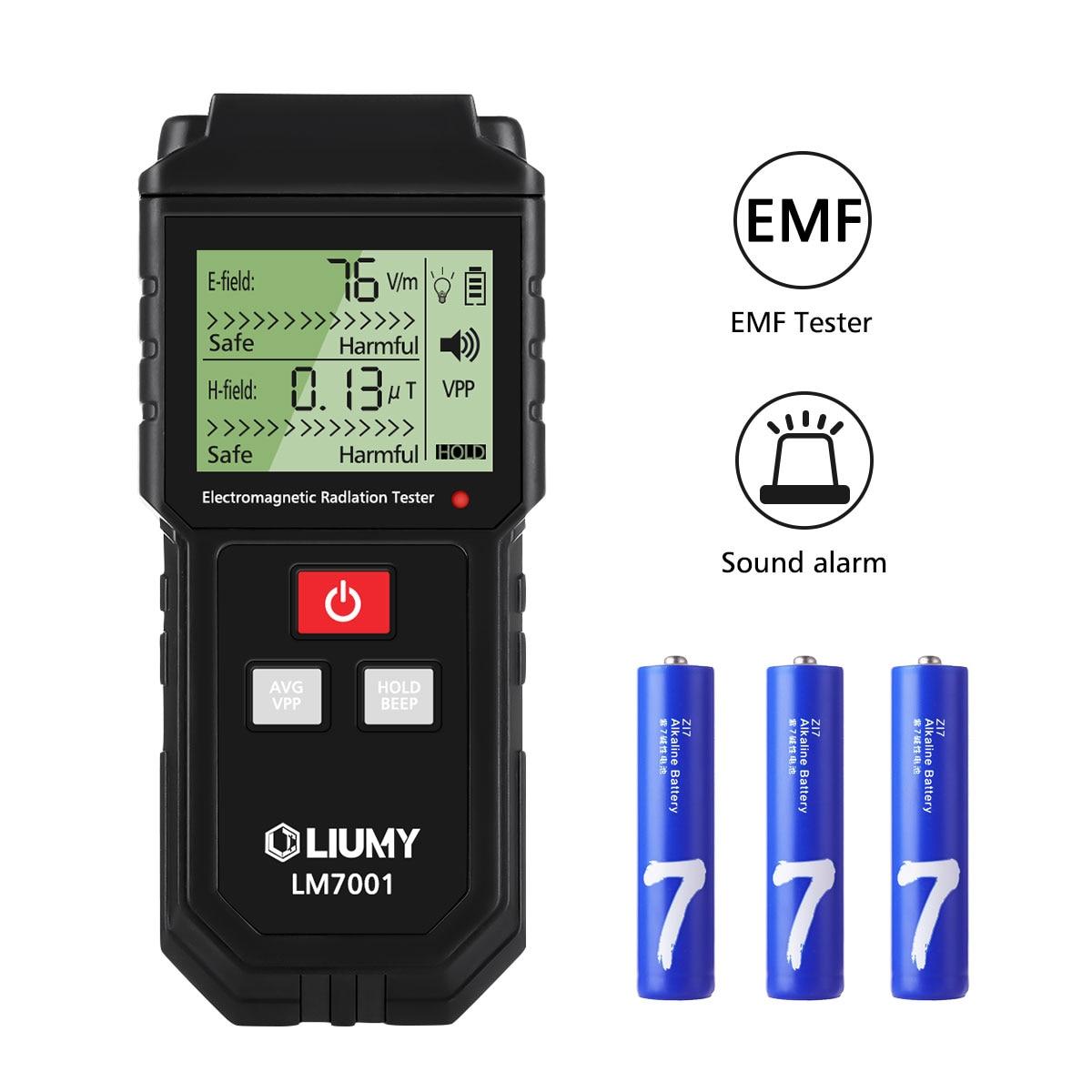 Medidor EMF LCD Digital de mano LIUMY medidor de radiación electromagnética campo eléctrico detector de dosímetros y batería
