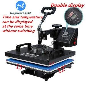 Image 2 - 15 en 1 Double affichage Sublimation presse à chaud Machine t shirt transfert de chaleur imprimante pour tasse/bouchon/chaussure/stylo/Football/bouteille