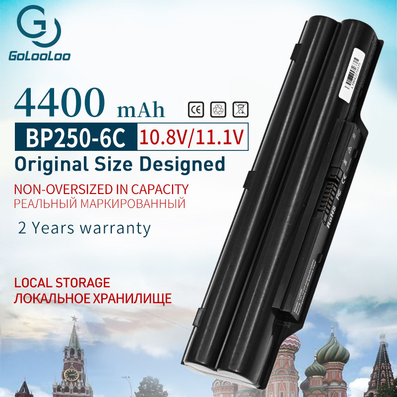 Golooloo 6 Cells Laptop Battery BP250 FPCBP250 FPCBP250AP For Fujitsu LifeBook A530 A531 AH530 AH531 PH521 LH52/C CP477891