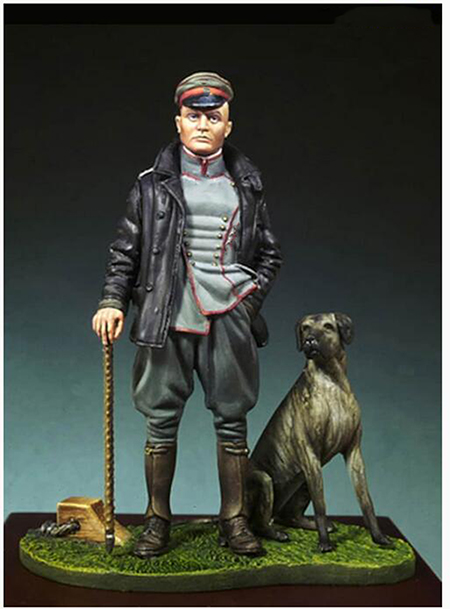 1/32 54MM Ancient Red Baron & Dog (WITH BASE )  Resin Figure Model Kits Miniature Gk Unassembly Unpainted