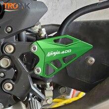 한 쌍의 오토바이 액세서리 가와사키 Z400 NINJA400 닌자 400 FootPeg Footrest 뒷 뒤꿈치 플레이트 가드 수호자