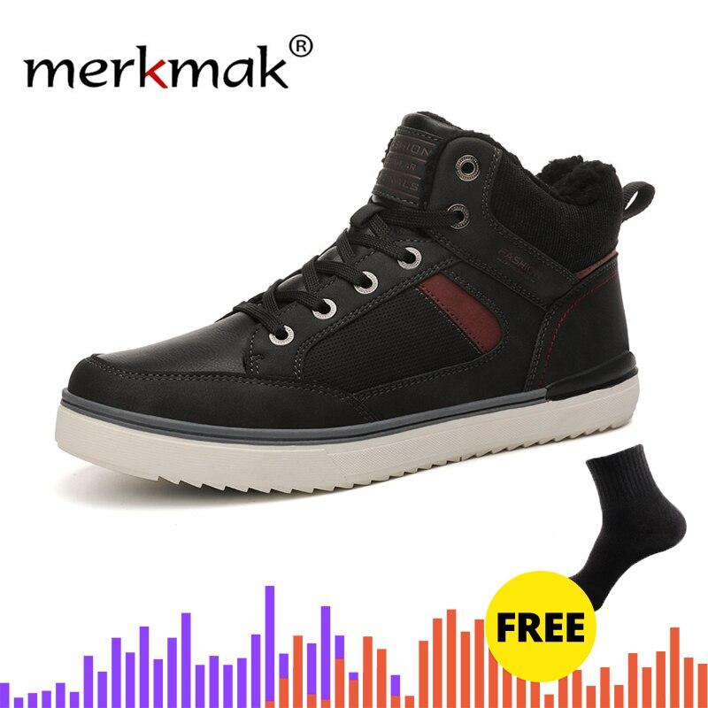 019 Winter Outdoor Hiking Shoe Men's Casual Shoe Non-slip Walking Shoe High To Help Plus Velvet Shoe Couple Models Men Sneakers