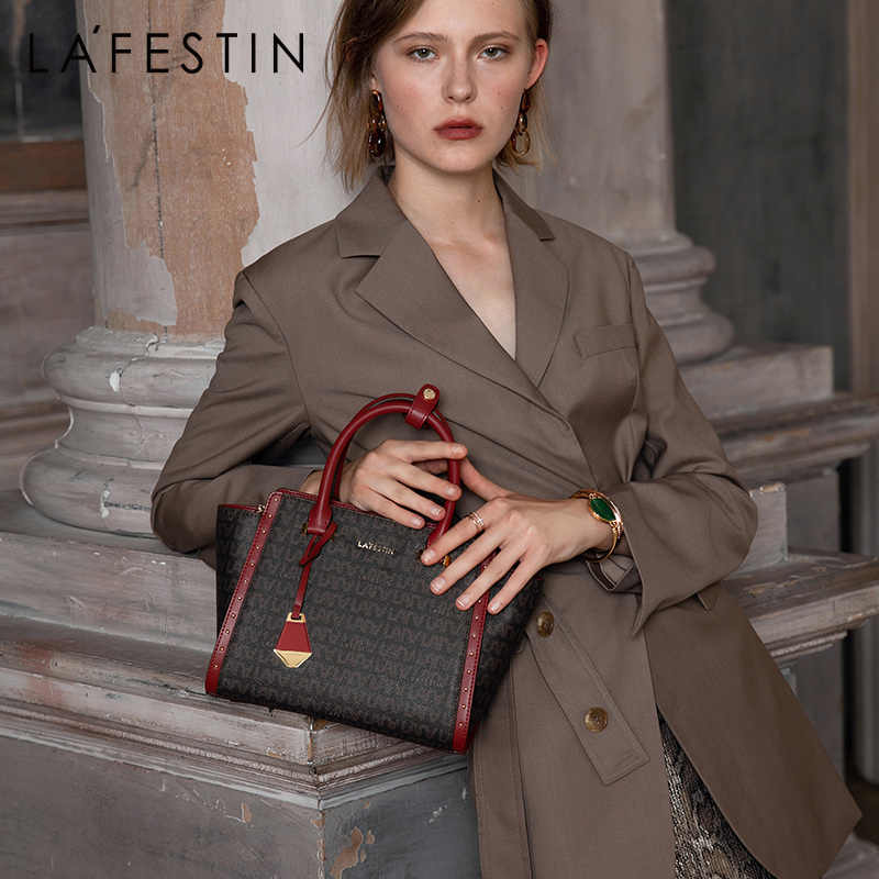 LAFESTIN brand female bag 2019 new classic handbag retro large capacity shoulder Messenger bag bolsa feminina