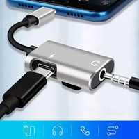 USB 타입 C 3 5 잭 컨버터 이어폰 오디오 어댑터 타입 USB C 3.5mm 잭 삼성 Xiaomi 화웨이 USB C 잭