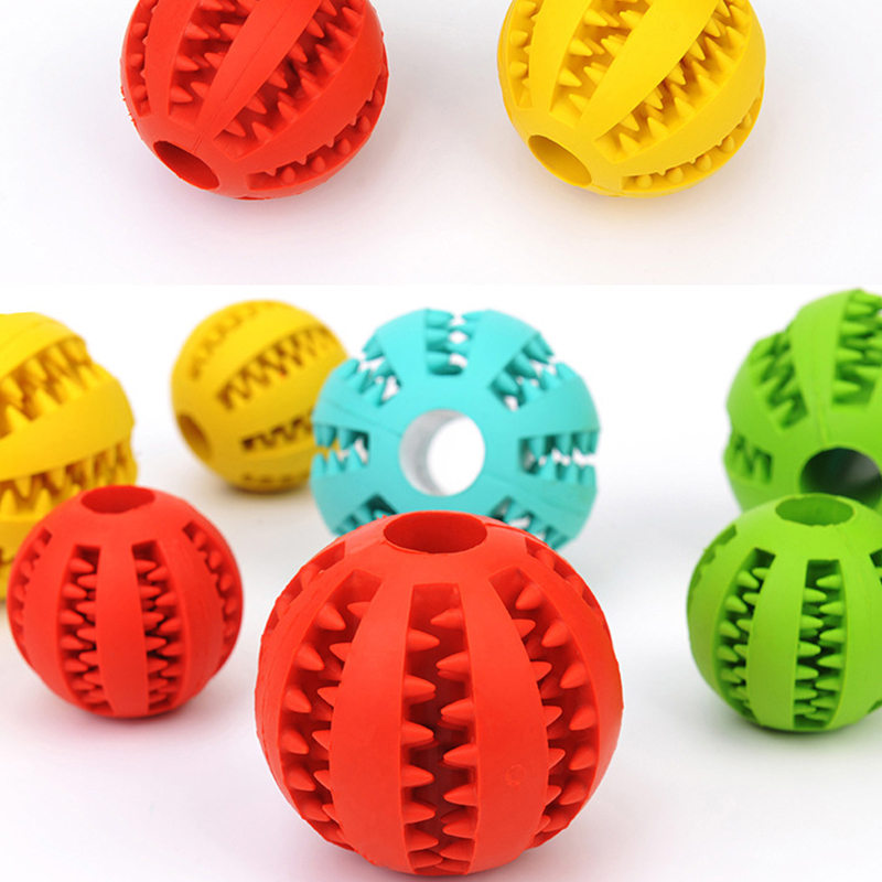 Pet Dog Toys Stretch Rubber Leaking Ball Pet Cat Dog Interactive Toy Pet Cat Dog Chew