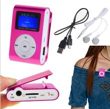 Portable mini MP3 Player Mini LCD Screen MP3 Player Music Player Support up to 32GB TF Card(China)