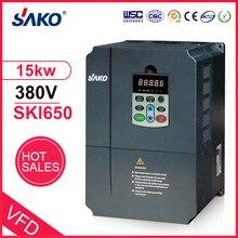 Sako 380V 15KW VFD yüksek performanslı fotovoltaik pompa invertörü VFD AC üçlü (3) faz çıkış