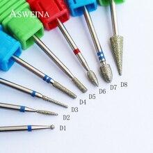 ASWEINA 8 Тип Алмазная пилочка для ногтей сверло заусенцев фреза Маникюр Электрический сверлильный станок для ногтей аксессуары для ногтей