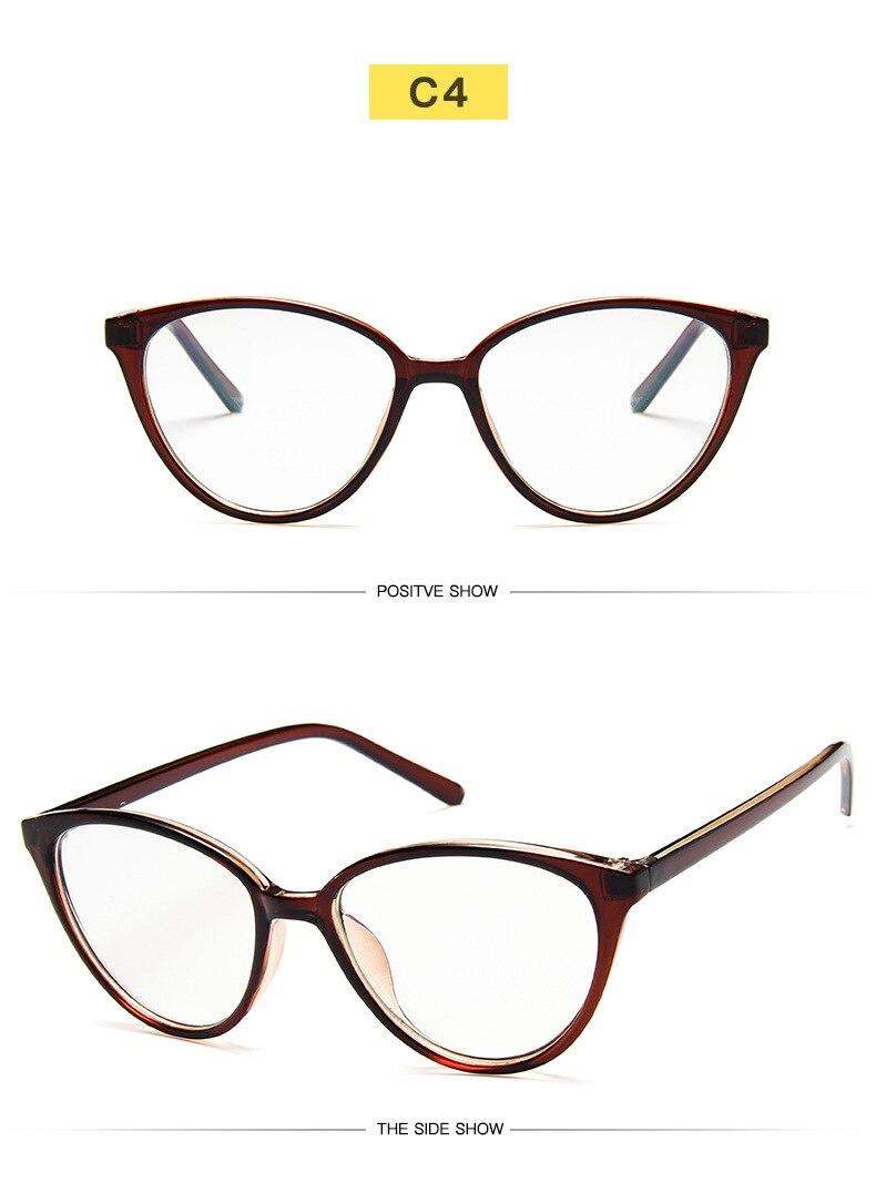 New Retro Cat Eye Women Glasses Frame Anti Blue Light Lady Eyeglasses Frame myopia Vintage Clear Glasses Optical Spectacle Frame (10)