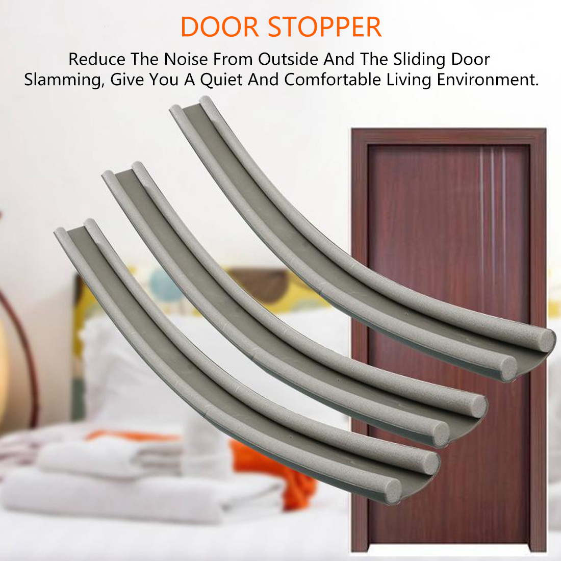 Flexible Door Bottom Sealing Strip Guard Sealer Stopper Door Weatherstrip Guard Wind Dust Blocker Sealer Stopper Door Seal 95CM