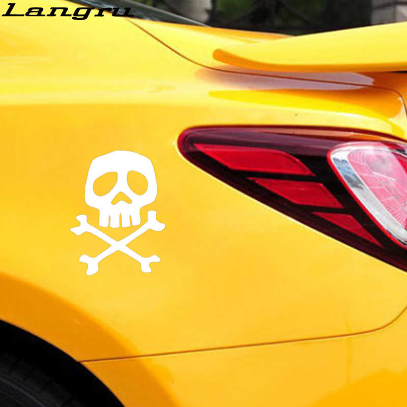 Langru 15*11,4 cm Captain Harlock calavera pirata espacio coche vinilo adhesivo para ventana calcomanía Decoración Accesorios de coche Jdm