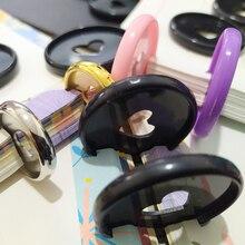 30шт обязательного пряжка пластиковый диск связывание кольца свободн-листьев цветной офисной хранения обязательных кольцо диска цвет гриба отверстие А4 Биндер