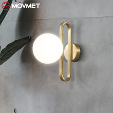 Современная стеклянная настенная лампа в виде шара винтажный