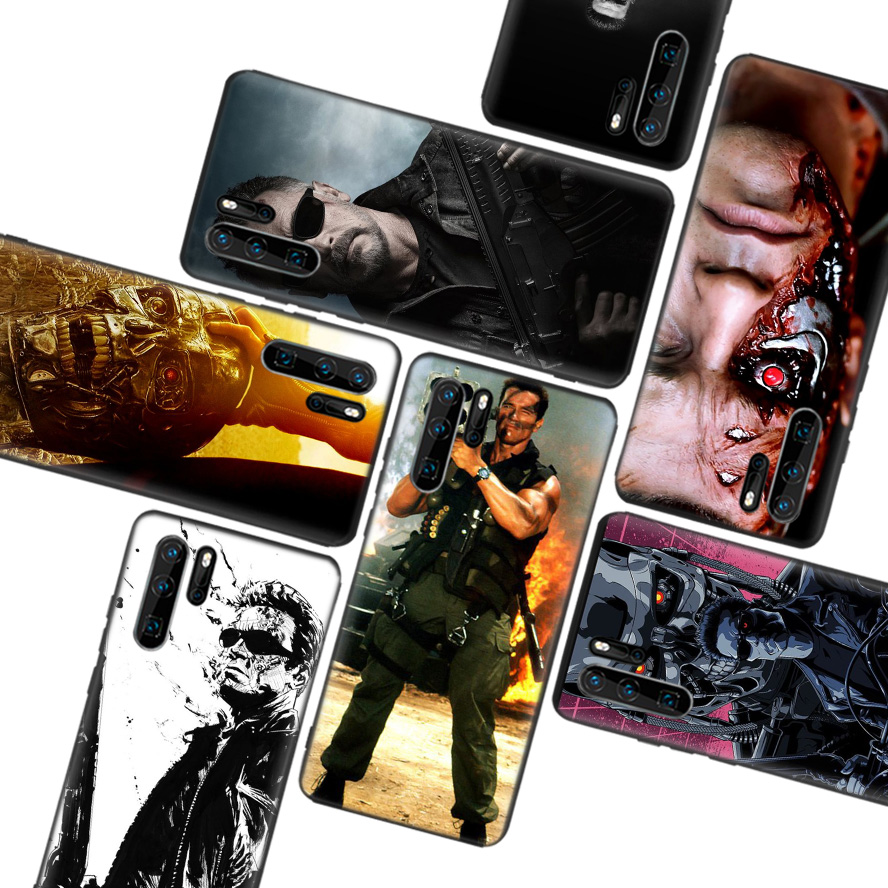 The Terminator Black Soft Case for Huawei P30 P20 P10 Lite Pro P Smart Z 2019 Mate 30 10 20 Lite Phone Cover Shell Coque