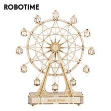 Robotime 232pcs Rotatable DIY 3D Ferris Wheel Wooden Puzzle