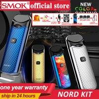 В наличии! Smok Nord Pod vape комплект с аккумулятором 1100 мАч 3 мл картридж сетка спиральная электронная сигарета Vape pod Kit vs SMOK novo