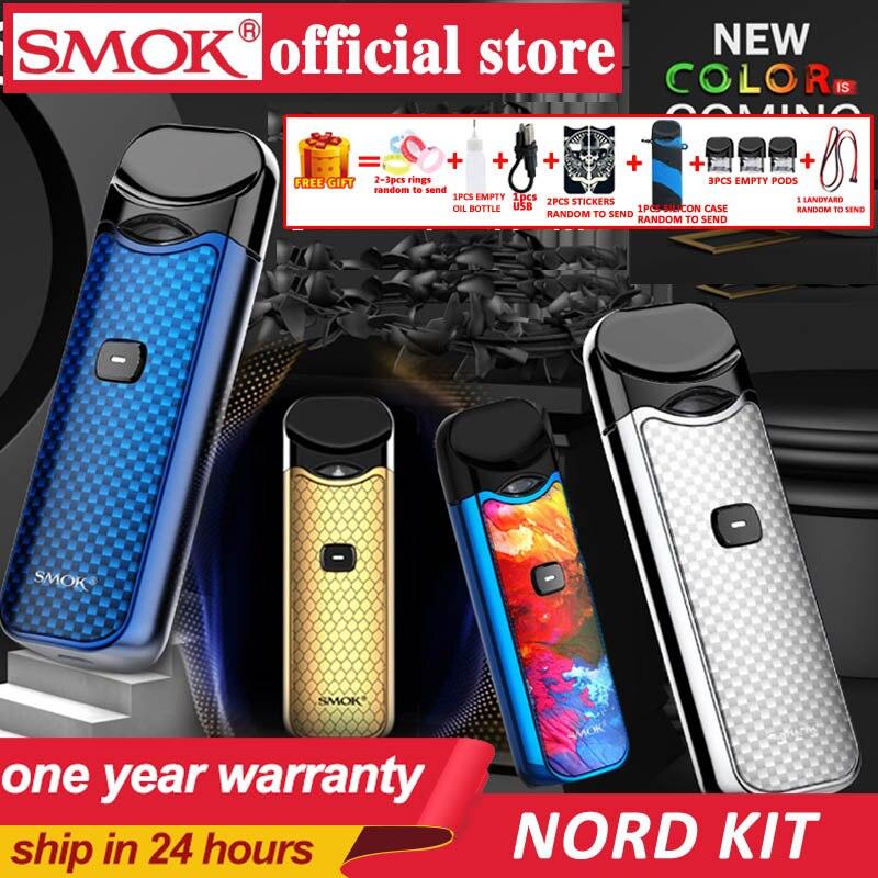 En stock!! Smok Nord Pod vape Kit avec batterie 1100 mAh 3 ML cartouche maille bobine électronique Cigarette Vape pod kit vs SMOK novo