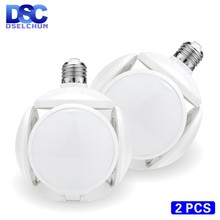 2PCS LED Bulb E27 40W Football UFO Lamp 360 degrees Folding Bulb 85-265V 110V 220V Lampada LED Spotlight Light Cold/Warm White