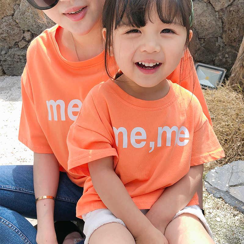 Одежда для родителей и детей, летняя футболка для девочек, детская футболка, милая хлопковая Новая модная детская одежда, одежда tiktok, оптовая продажа