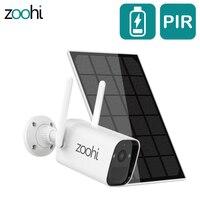 Zoohi 3MP telecamera di sorveglianza Wireless batteria telecamera di sicurezza domestica pannello solare telecamera WIFI esterna PIR rilevazione umanoide intelligente