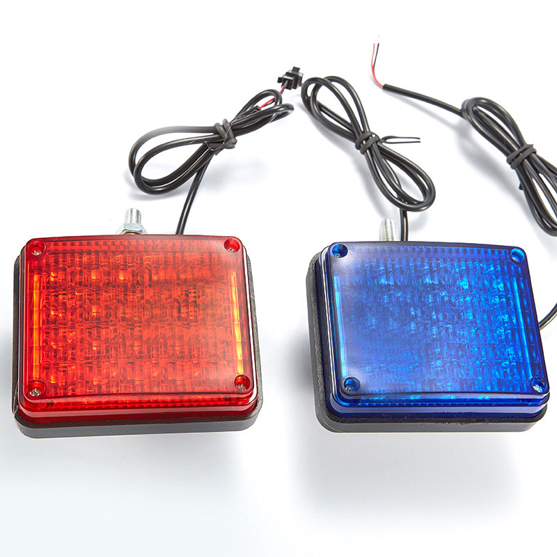 12V Red And Blue LED Flashing Fire Indication Light Police Fireman Emergency Strobe Warning Beacon For Indication Lamp