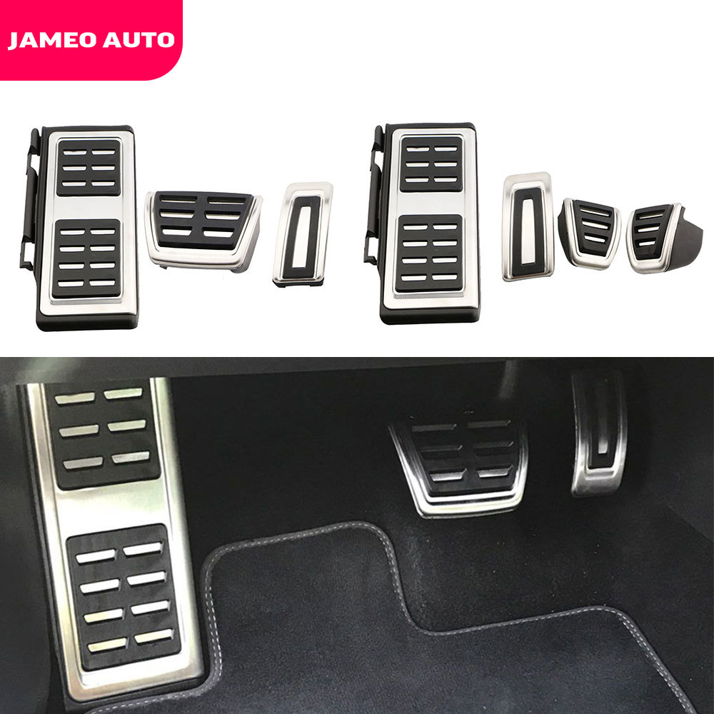 Jameo Auto Auto Gas Brake Rest Pedal Cover Car Pedals for Skoda Rapid Superb 2016 2017 2018 2019 2020 2021 LHD AT MT Parts