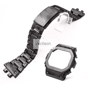 Image 5 - _ Черный Камуфляжный серебристый титановый сплав ремешки для часов и Безель металлический ремешок сталь GMW B5000 с инструментами