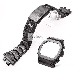 Image 5 - GMW B5000 Zwart Camo Sliver Titanium Legering Horlogebanden En Bezel Metalen Band Stalen Armband Cover Met Gereedschap