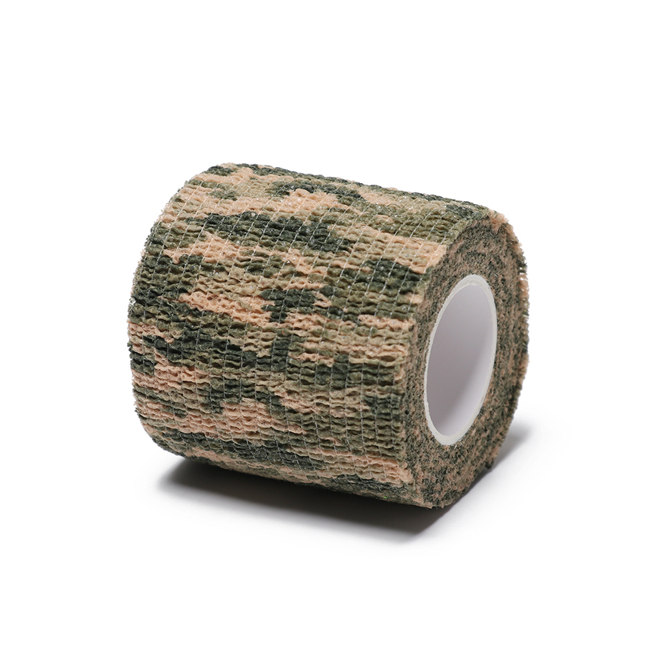 Self-adhesive Non-woven Army Camouflage Rifle Wrap Camo Bandage Stealth Tape FB