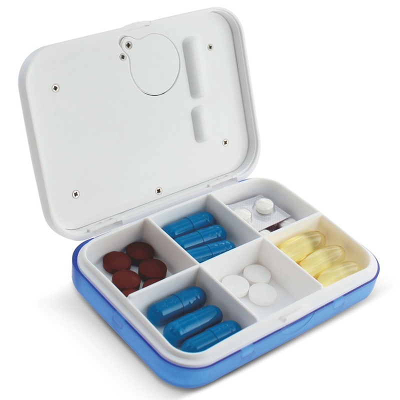 Dust Proof 6 Grid Pill with Electronic Timer and Alarm Reminder for Keeping the Medicines Safely 4