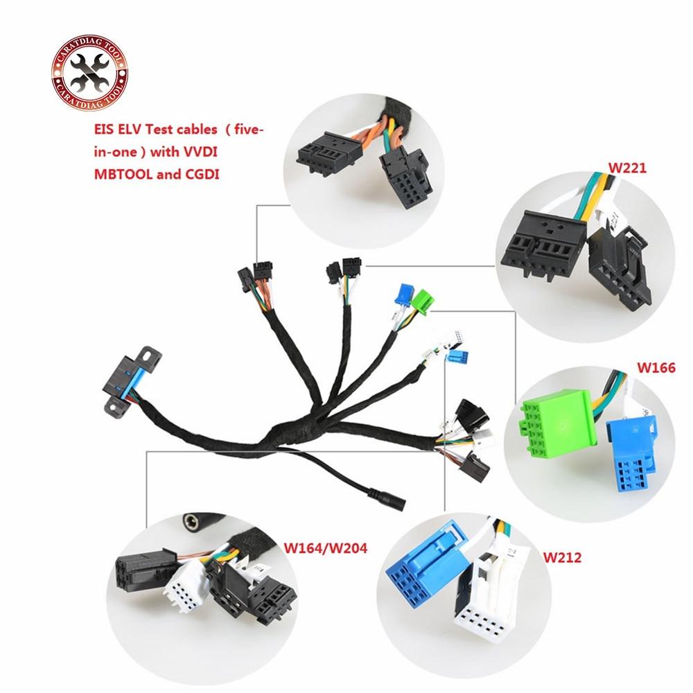 EIS ELV Test kabloları benim için rcedes b-enz ile çalışmak VVDI MB BGA aracı ve CGDI prog MB 5 in 1 (W204 W212 W221 W164 W166)