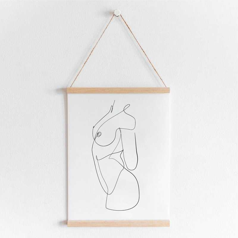 Tubuh Telanjang Abstrak Satu Gambar Garis Seni Lukisan Gambar Feminin Wanita Telanjang Gambar Erotis Dinding Art Cetakan Dekorasi Kamar Tidur