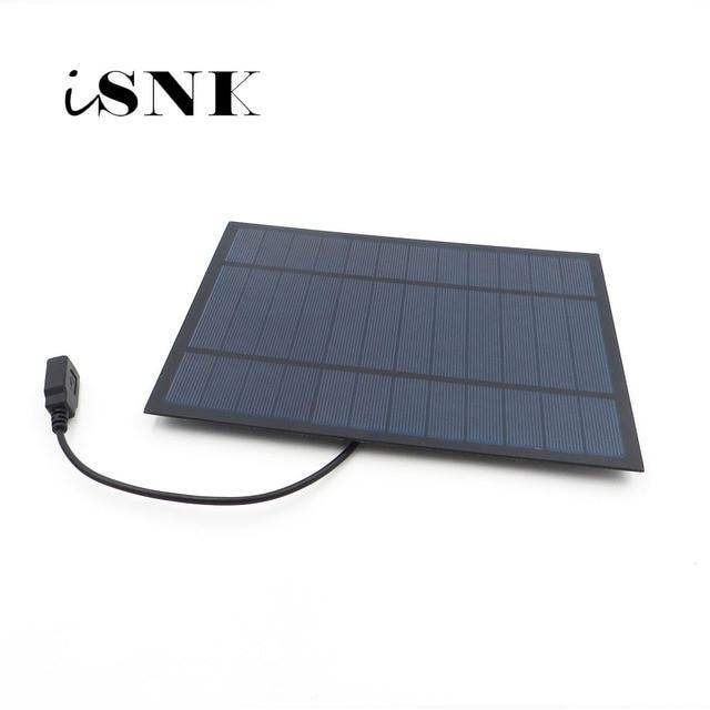 ソーラーパネル充電器 6V 2 ワット 3 ワット 3.5 ワット 4.5 ワット 6 ワット多結晶太陽電池 DIY ソーラーバッテリー充電携帯電話 5V USB ケーブル 30 センチメートル