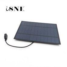Chargeur de panneau solaire 6V 2W 3W 3.5W 4.5W 6W cellule solaire polycristalline bricolage charge de batterie solaire téléphone portable 5V câble USB 30cm