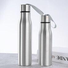 Бутылка для воды Велосипедная Спортивная бутылка для воды из нержавеющей стали, гидрофляга, герметичная Изолированная вакуумная фляга, термо портативная бутылка для горячей и холодной воды