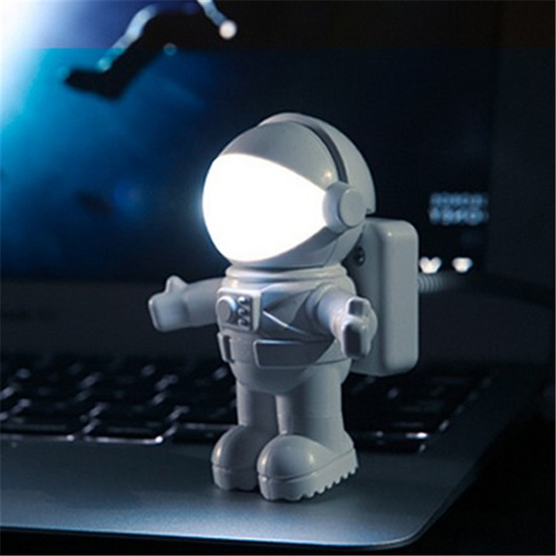 Flexible USB White Astronaut Tube Portable LED Night Light DC 5V Bulb For Computer Laptop PC Notebook Reading Home Decoration