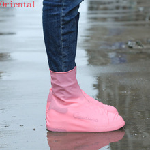 Waterproof Shoe Covers Fashion Rain Boots Women Outdoor Non-Slip Silicone Shoe Covers Man Reusable Rubber Boots Cover