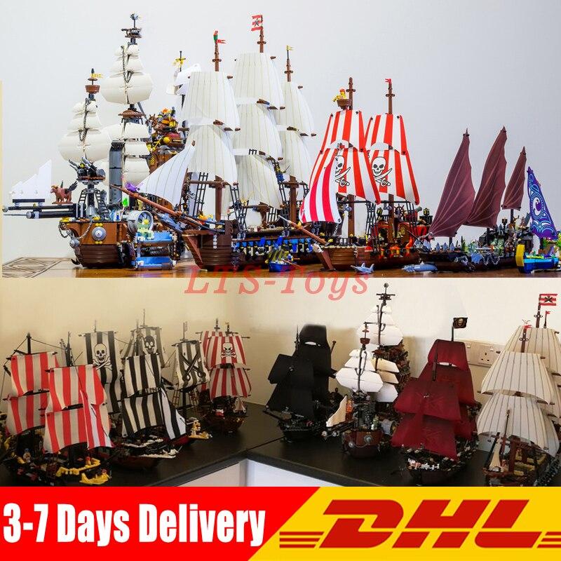 DHL Pirates Of The Caribbean 16006 16009 16042 16016  22001  4184 4195 10210  Model Building Kits Blocks Toy