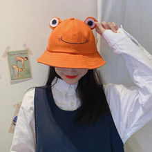 Fashion Frog Bucket Hat for Women Summer Autumn Plain Child Panama Outdoor Hiking Beach Fishing Cap Sunscreen Female Sunhat Bob