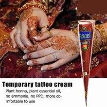 Marrón Natural de conos de Henna tatuaje temporal tinta Mehndi Golecha indio pasta Mehndi dibujo maquillaje dedo pies crema de cuerpo