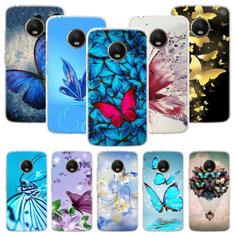 Butterfly Stand Case For Motorola Moto G8 G7 G6 G5S G5 E6 E5 E4 Plus G4 Play Power X4 One Action Phone Cover Coque