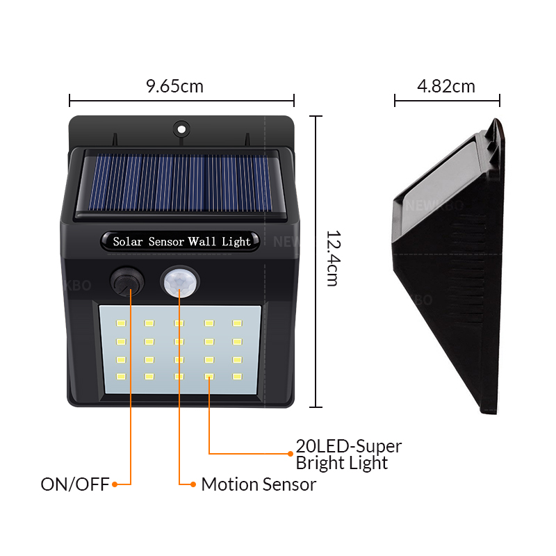 Image 5 - Solar Lamp wall Portable Led Light Sensor automatically Camp Tent Flashlight Night led Garden road Light waterproof outdoor Bulb-in LED Night Lights from Lights & Lighting
